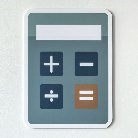 Electronic calculator with mathematical functions
