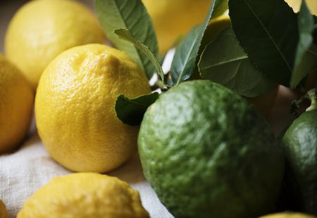 Fresh lemons and limes food photography