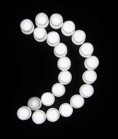 White lights cresecent moon shape Banque d'images - 109896839