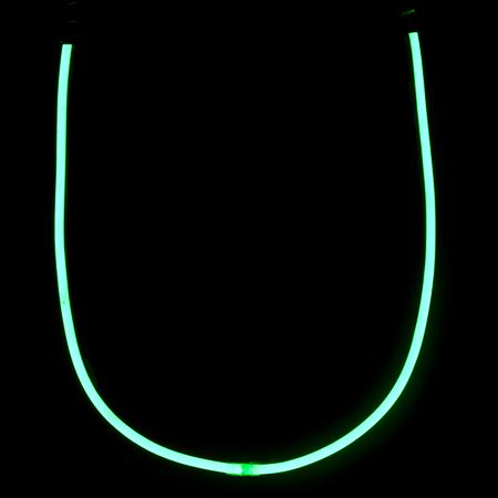 Green neon lights alphabet letters Reklamní fotografie