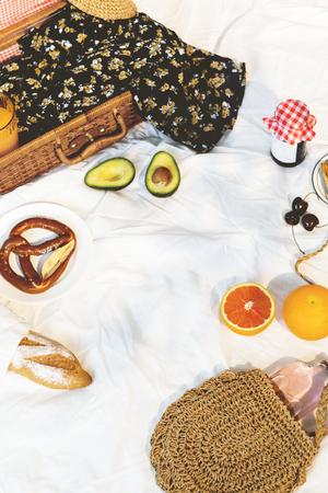 Summertime picnic on a blanket