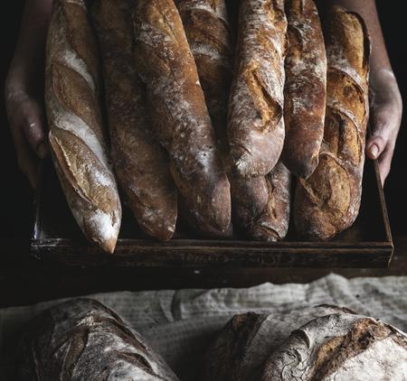 Close up of baguettes photography recipe idea Reklamní fotografie