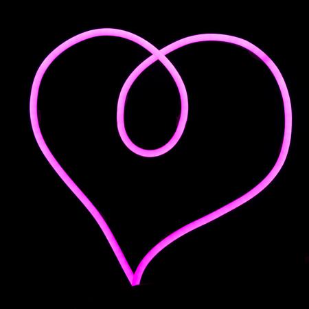 Neon wire LED in heart shape Reklamní fotografie