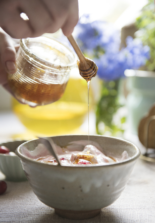 Healthy yogurt food photography recipe idea Reklamní fotografie