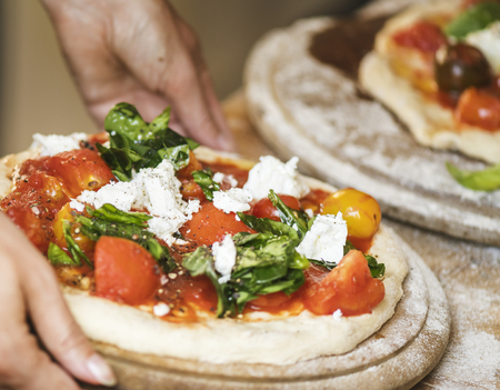 Homemade pizza food photgraphy recipe idea