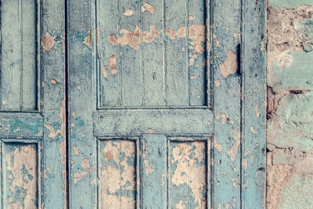 Weathered door on an old building