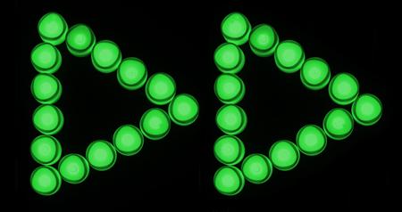 Green lights forward button icon Stock Photo