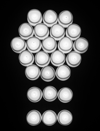 Light bulbs with abstract shape icon