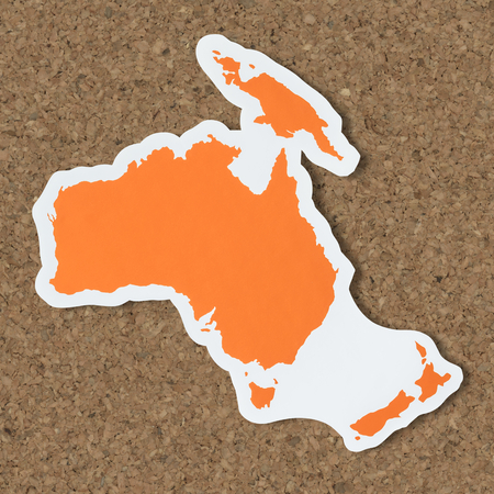 Free blank map of Australia and Oceania Stock Photo - 110004374