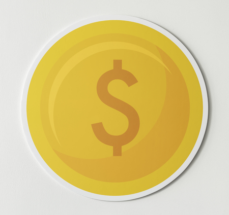 Dollar coin currency exchange icon