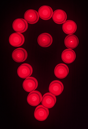Red lights check in icon