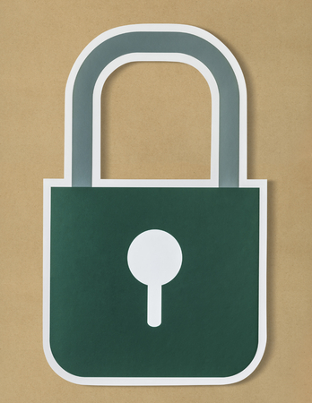 Privacy safety lock icon symbol Stock Photo