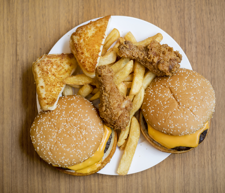 Fattening and unhealthy fast food Reklamní fotografie