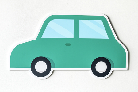Car for transport icon isolated Stock Photo