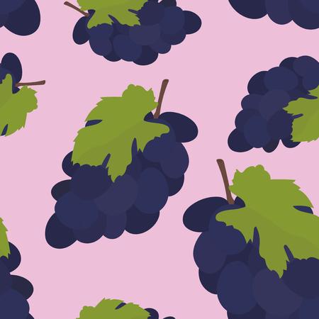 Colorful hand drawn grape pattern Foto de archivo - 110044219