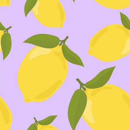 Colorful hand drawn lemon pattern