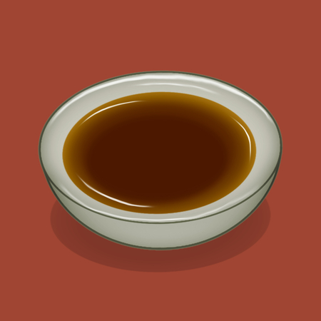 Dish with soy sauce illustration