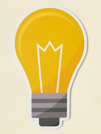 Creative light bulb icon isolated Archivio Fotografico - 110045203