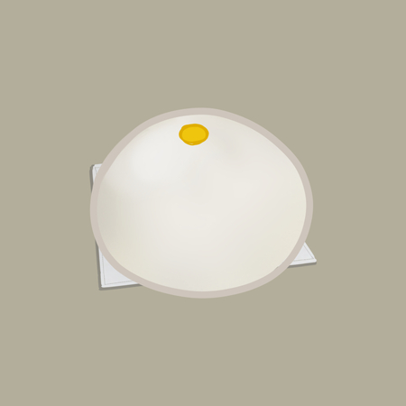 Chinese style steamed bun illustration