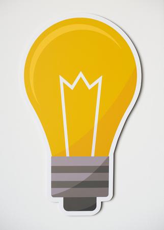 Creative light bulb icon isolated Stok Fotoğraf - 110045230