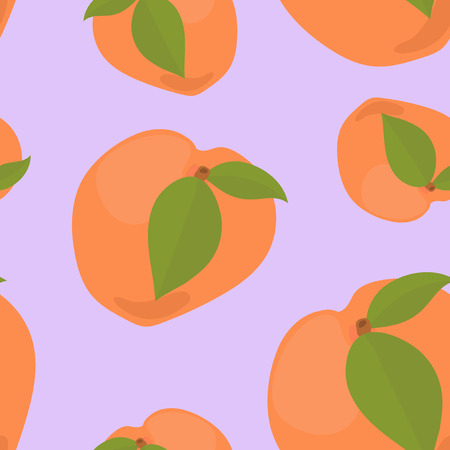 Colorful hand drawn apricot pattern Imagens - 110045235