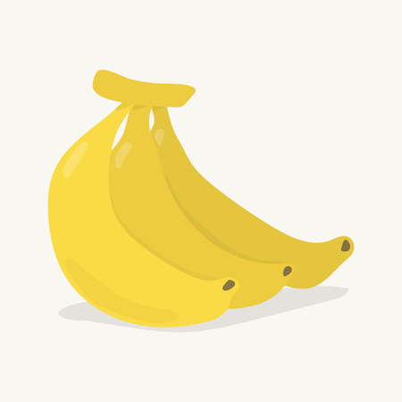Hand drawn colorful banana illustration Stock Photo