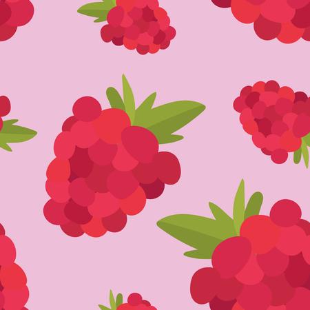 Colorful hand drawn raspberry pattern Stock Photo