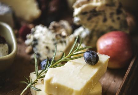 Cheese platter food photography recipe idea Stok Fotoğraf