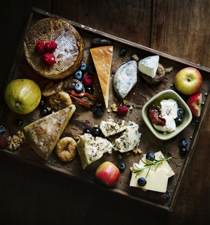 Cheese platter food photography recipe idea Stock fotó