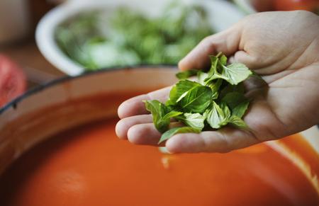 Creamy tomato sauce food photography recipe idea 写真素材