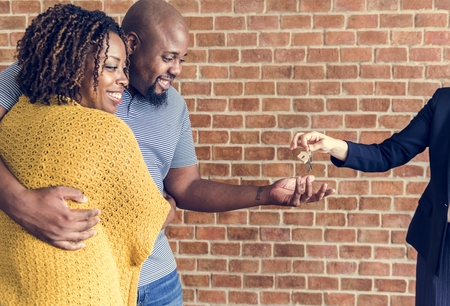 Black couple buy new house