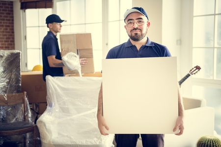 Furniture delivery service concept Stock Photo