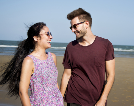 A couple on vacation Stock Photo