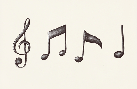 Hand-drawn music note illustration