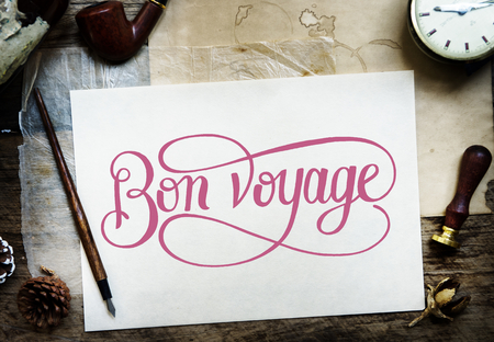 Calligraphy on a sheet of white paper