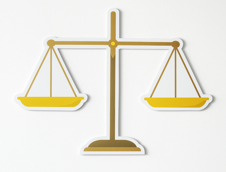 Legal scale of justice icon Stock fotó