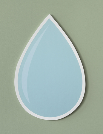 Water drop cut out icon Stock Photo