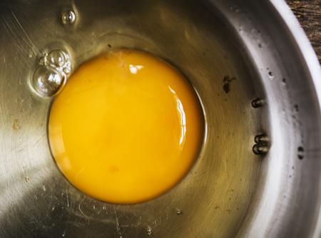 Closeup of an egg yolk 写真素材