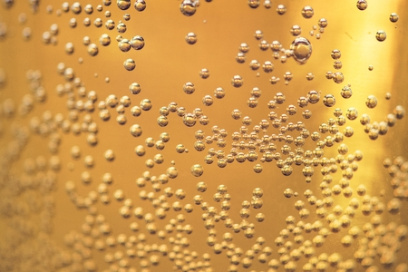 Closeup of bubbles in a glass