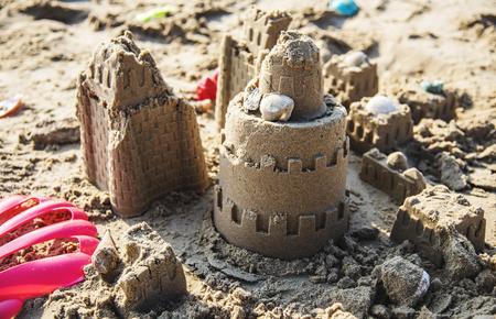 Sandcastle on the beach Reklamní fotografie