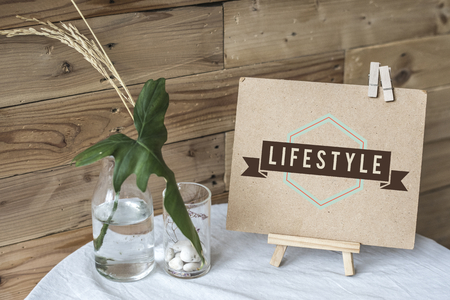 Craft paper display on a table mockup
