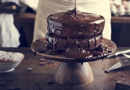 Chocolate cake food photography recipe idea 写真素材