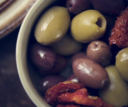 Pickled olives food photography recipe idea