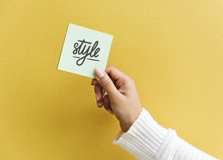 Design space on a sticky note mockup Zdjęcie Seryjne