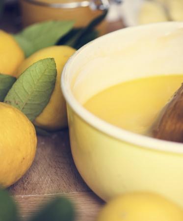 Lemon curd food photography recipe idea