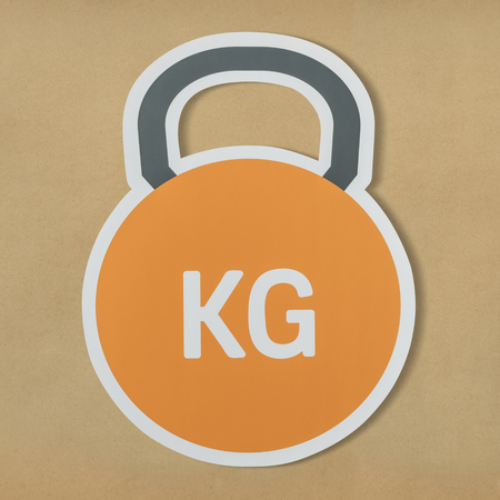 Kettlebell heavy weight lifting icon 版權商用圖片 - 110098450