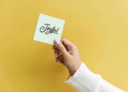 Design space on a sticky note mockup Stok Fotoğraf