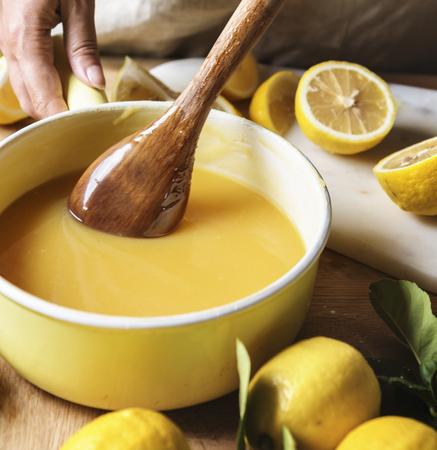 Lemon curd food photography recipe idea Banque d'images - 110099014