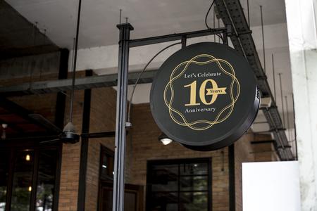 Signage outside a restaurant mockup