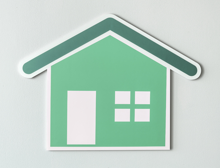 Home insurance cut out icon Stock Photo - 110100118